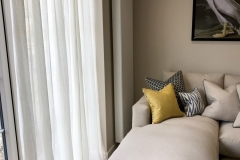 Pencil Pleat textured voile curtain