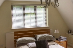 50mm white wooden venetian blind with 25mm tapes