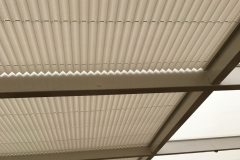 Pleated roof blinds in ASC heat reflective fabric
