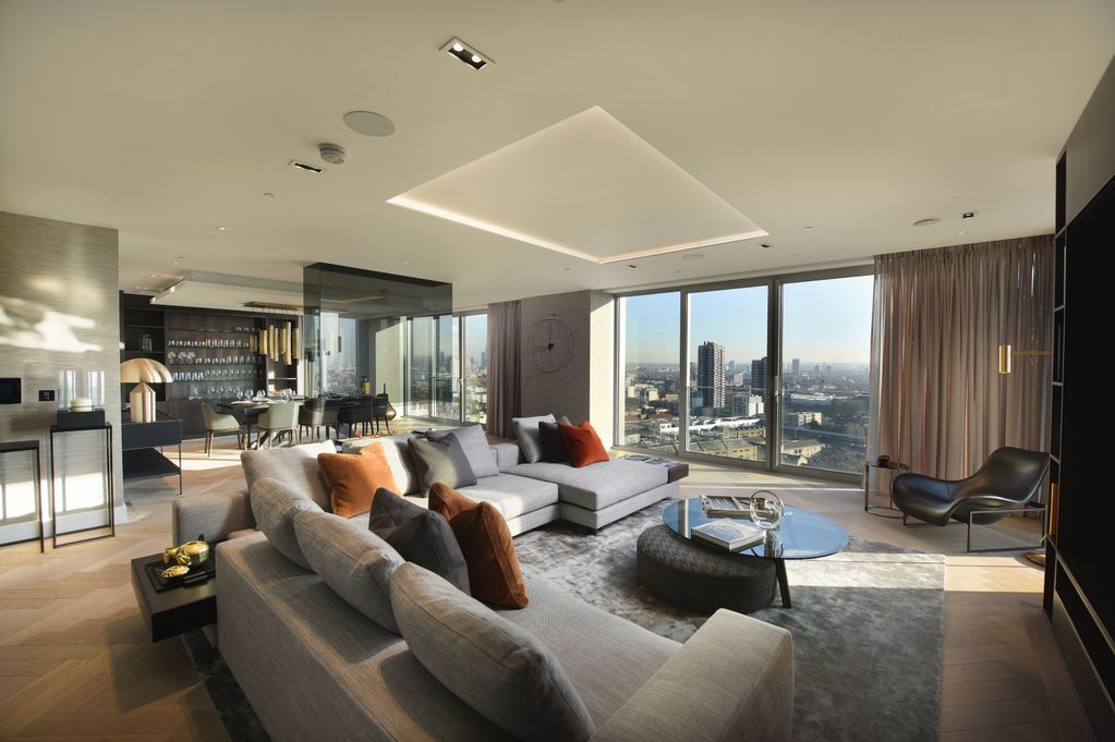 Modern looking penthouse