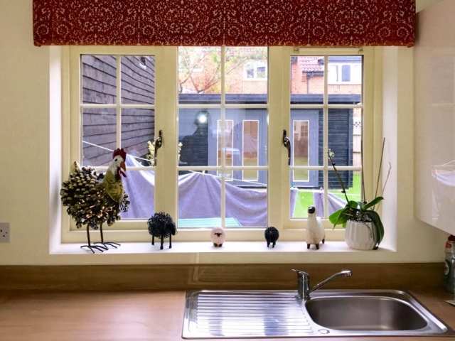 Kitchen window sill