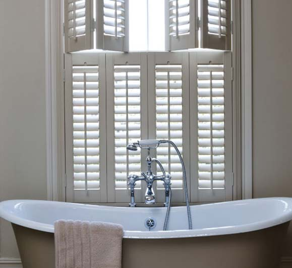 Example Service Image shutters over bath in welwyn garden city home