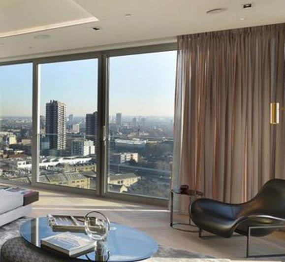 curtains in hotel showing commerical use of blinds and curtains for commercial services page
