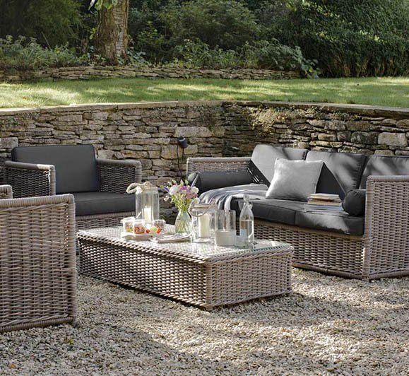 brown wicker garden furniture in garden in welwyn garden city for furniture services page