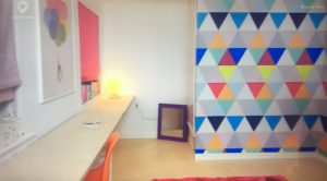 Triangle pattern walls