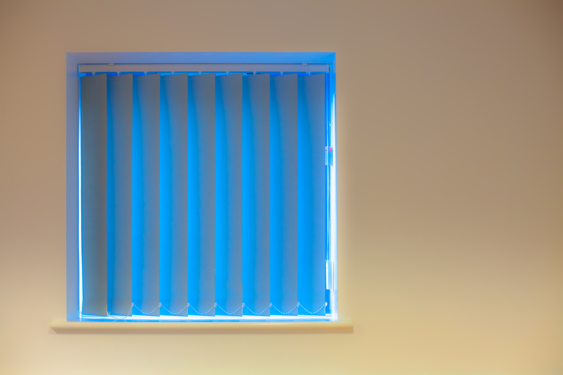 Blue Vertical Blinds