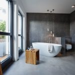Modern concrete bathroom design