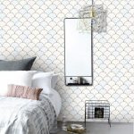 Fish scale inspired bedroom interior