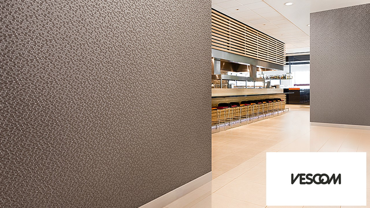 modern wall covering for interior design in a restaurant
