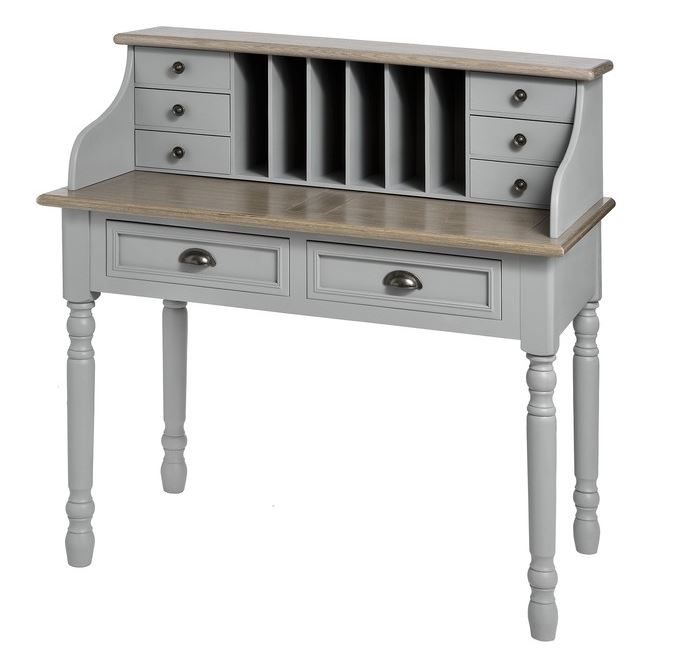 grey churchill two drawer writing desk